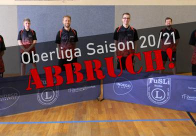Oberliga-Saison abgebrochen!